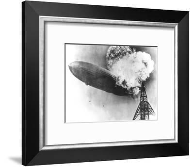 Hindenburg Crash, 1937-us Navy-Framed Giclee Print
