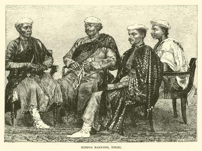 Hindoo Bankers, Delhi--Giclee Print