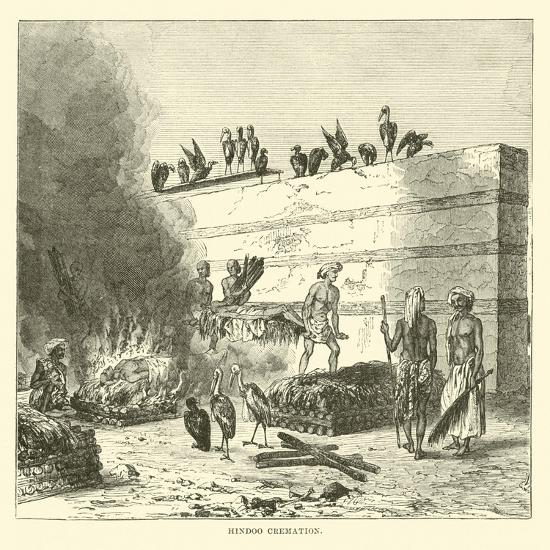 Hindoo Cremation--Giclee Print
