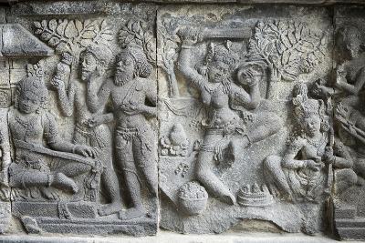 Hindu Carvings on the Prambanan Temples, UNESCO World Heritage Site, Near Yogyakarta-Alex Robinson-Photographic Print