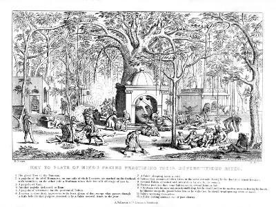 Hindu Fakirs Practising their Superstitious Rites, 19th Century-Bell-Giclee Print