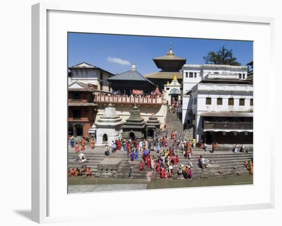 Hindu Festival, Pashupatinath Temple, Kathmandu, Nepal-Ethel Davies-Framed Photographic Print
