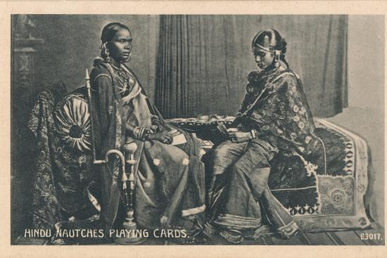 'Hindu Nautches Playing Cards', c1910-Unknown-Photographic Print