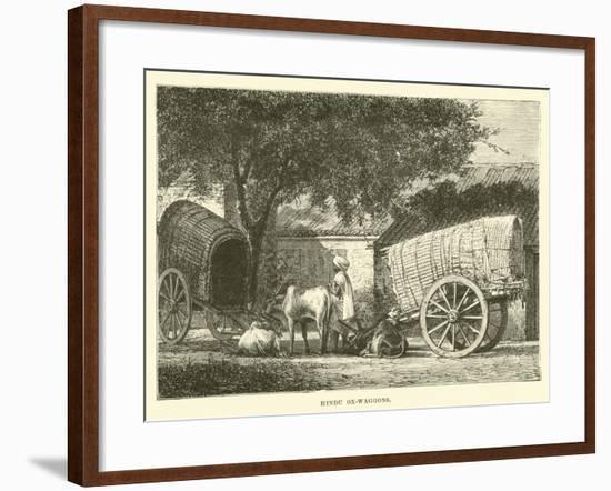 Hindu Ox-Waggons--Framed Giclee Print