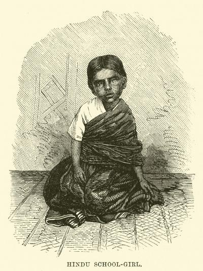 Hindu School-Girl--Giclee Print