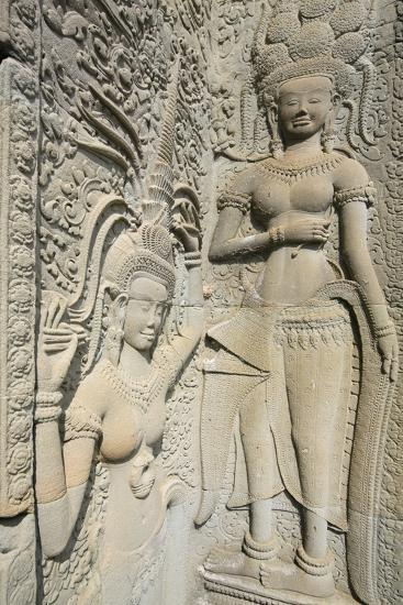 Hindu Statues on the Outer Wall of Angkor Wat, Siem Reap, Cambodia, Southeast Asia-Alex Robinson-Photographic Print
