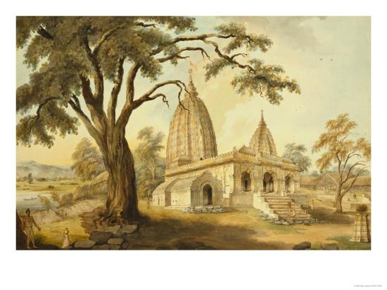 Hindu Temple at Sambatpur in Orissa, India--Giclee Print
