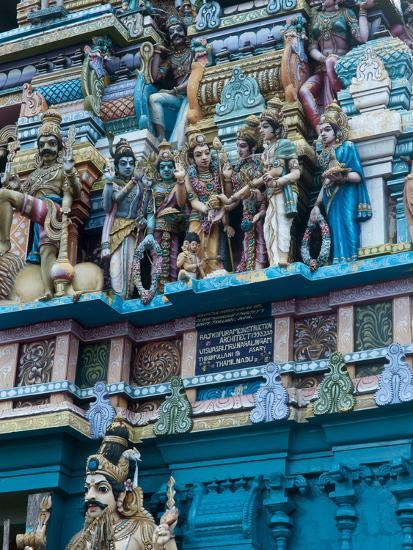 Hindu Temple Exterior, Colombo, Sri Lanka, Asia-Kim Walker-Photographic Print