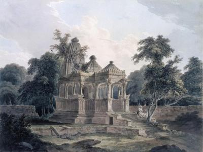 Hindu Temple in the Fort of the Rohtas, Bihar, India (W/C on Paper)-Thomas Daniell-Giclee Print