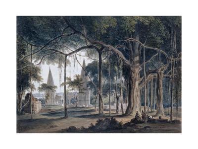 Hindu Temples at Agori, Uttar Pradesh-Thomas & William Daniell-Giclee Print