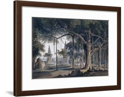 Hindu Temples at Agori, Uttar Pradesh-Thomas & William Daniell-Framed Giclee Print