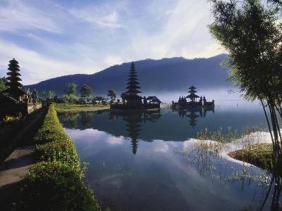 Hindu Temples at Lake Bratan, Pura Ulu Danau, Bali-Alain Evrard-Photographic Print