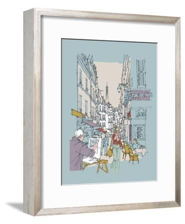Hinterland Paris-Ken Hurd-Framed Giclee Print