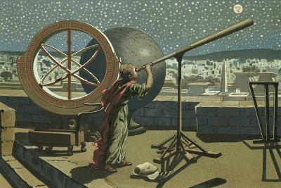 Hipparchus in the Observatory in Alexandria-Josep or Jose Planella Coromina-Giclee Print