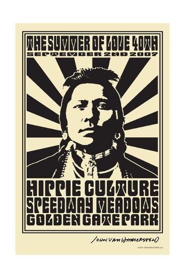 Hippie Culture Speedway Meadows - John Van Hamersveld Poster Artwork-Lantern Press-Art Print