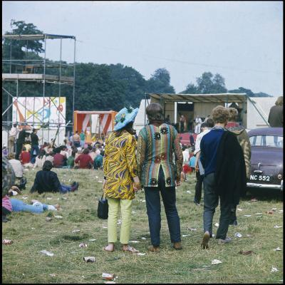 Hippies in Woburn 1969--Photographic Print