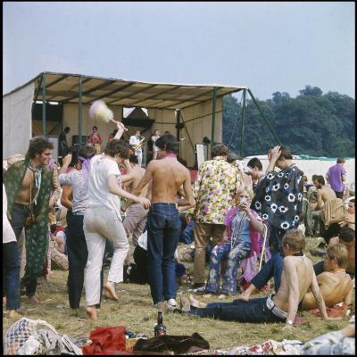 Hippies in Woburn 1970--Photographic Print
