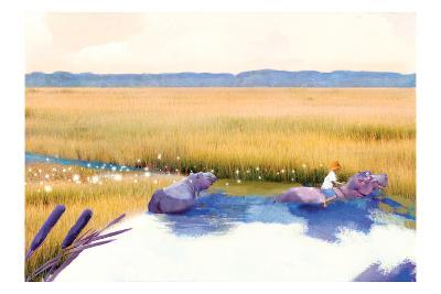 Hippo Friends-Nancy Tillman-Art Print