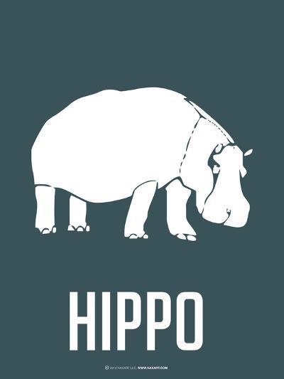 Hippo White-NaxArt-Art Print