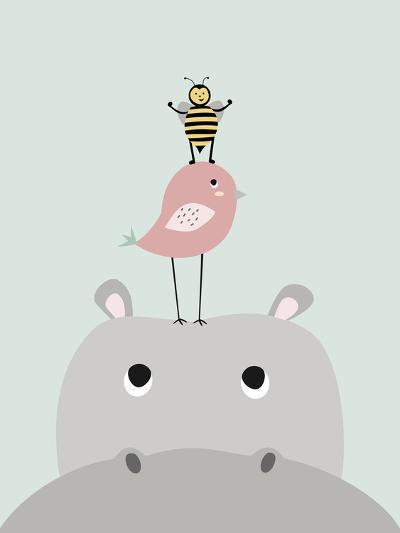 Hippo-Nanamia Design-Art Print