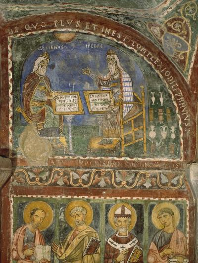 Hippocrates and Galen, Crypt of Anagni Cathedral--Giclee Print