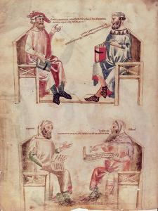 """Hippocrates and Hunayn Ibn Isahq and Hippocrates and Claudius Galenus from """"De Herbis"""""""