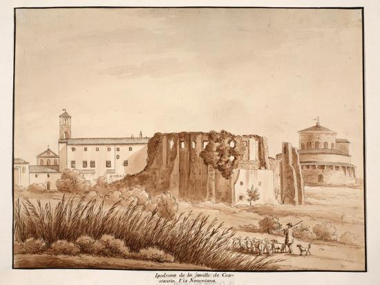 Hippodrome of the Family of Constantine, Via Nomentana, 1833-Agostino Tofanelli-Giclee Print