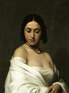Etude florentine ou jeune fille en buste les yeux baissés by Hippolyte Flandrin