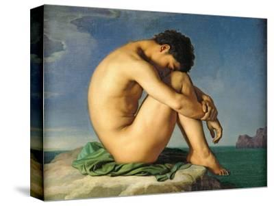Naked Young Man Sitting by the Sea, 1836