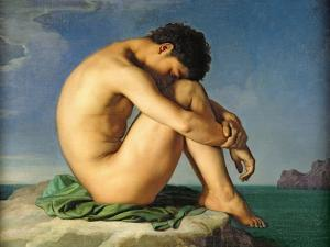 Naked Young Man Sitting by the Sea, 1836 by Hippolyte Flandrin