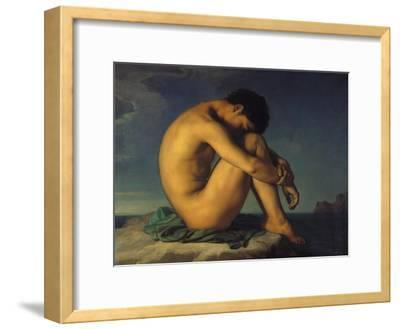 Naked Young Man Sitting by the Sea, 1855