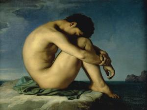Study of a Male Nude by Hippolyte Flandrin
