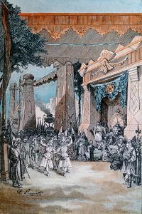 Illustration from 'Michel Strogoff' by Jules Verne (1828-1905) by Hippolyte Leon Benett