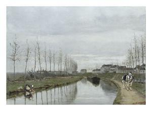Le canal by Hippolyte Margottet