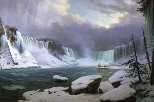 Panorama of the Niagara Falls in Winter, 1857 by Hippolyte Victor Valentin Sebron