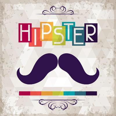 Hipster Background In Retro Style-incomible-Art Print