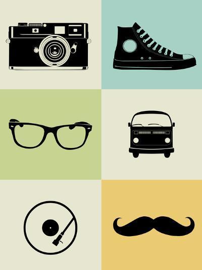 Hipster Mix Poster-NaxArt-Art Print
