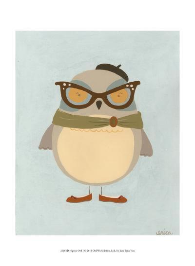 Hipster Owl I-Erica J^ Vess-Art Print