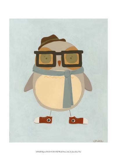 Hipster Owl II-Erica J^ Vess-Art Print