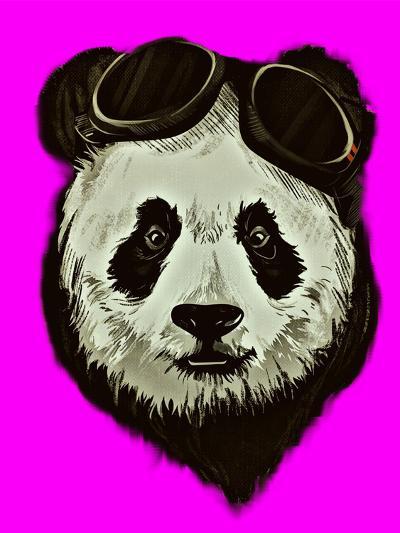 Hipster Panda Bear Pink Style-Wonderful Dream-Art Print