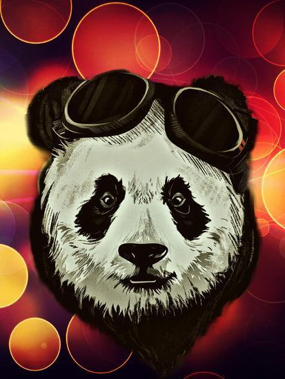 Hipster Panda with Bokeh Style-Wonderful Dream-Art Print
