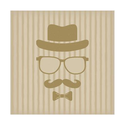 Hipster'S Hat, Glasses, Moustache-marina_abcd-Art Print