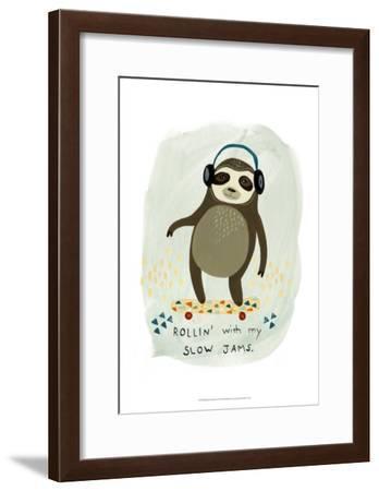 Hipster Sloth II-June Erica Vess-Framed Art Print