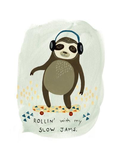 Hipster Sloth II-June Vess-Art Print