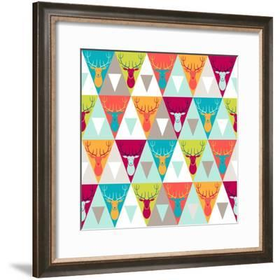 Hipster Style Seamless Pattern-incomible-Framed Premium Giclee Print