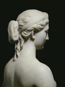 Fine American White Marble Bust of Proserpine, Hiram Powers, 19th Century by Hirim Powers