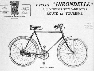 Hirondelle Saint Etienne, Bicycle Tourism Advertisement, 20th Century--Giclee Print