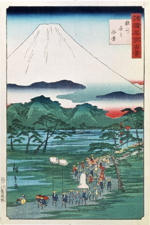 Mount Fuji from the Province of Hara in Suruga, 1860