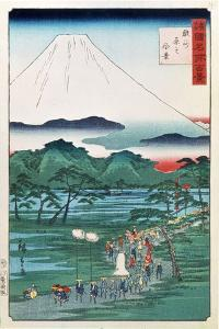 Mount Fuji from the Province of Hara in Suruga, 1860 by Hiroshige II