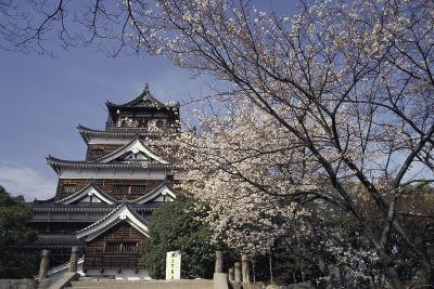Hiroshima Castle and Cherry Blossoms in Spring-Design Pics Inc-Photographic Print
